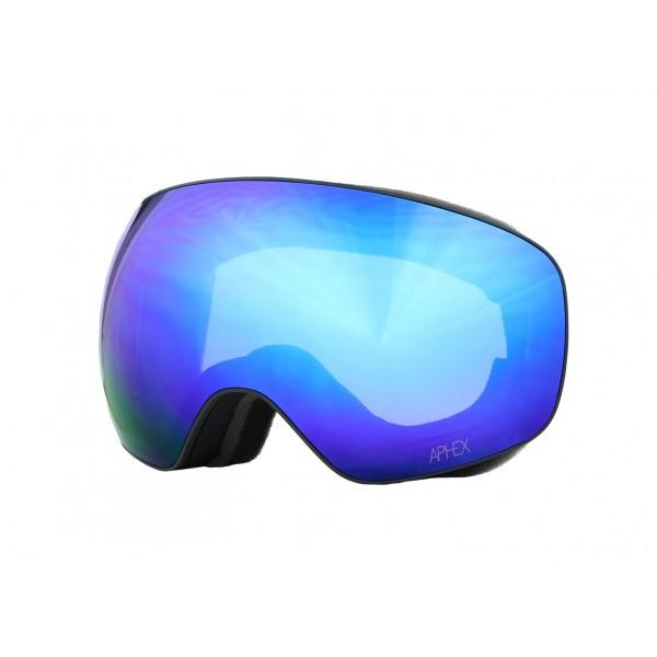 Aphex Explorer Matte Black - Revo Blue & Spare Lens -Goggles - Explorer Matte Black - Revo Blue & Spare Lens - Aphex