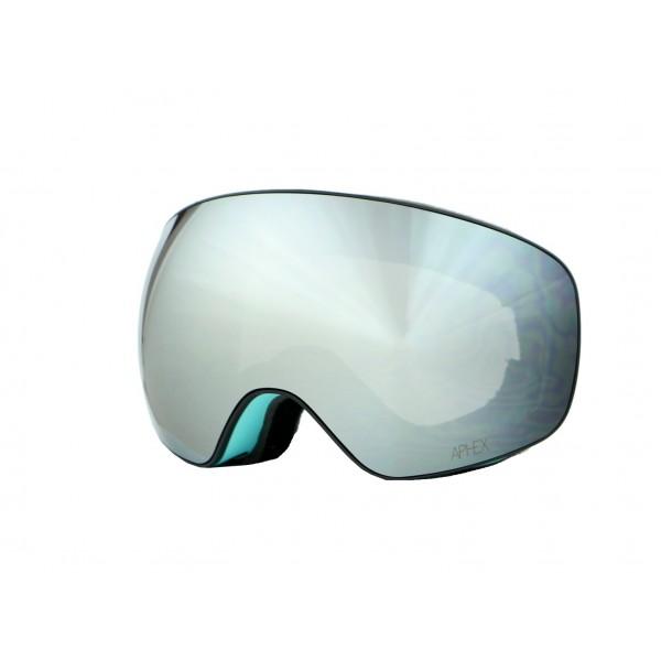 Aphex Explorer Matte Blue - Silver & Spare Lens -Goggles - Explorer Matte Blue - Silver & Spare Lens - Aphex