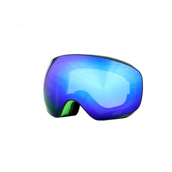 Aphex Explorer Matte Green - Revo Blue & Spare Lens -Goggles - Explorer Matte Green - Revo Blue & Spare Lens - Aphex