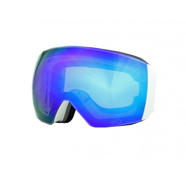 Aphex Styx Matte White - Revo Blue & Spare Lens -Goggles - Styx Matte White - Revo Blue & Spare Lens - Aphex