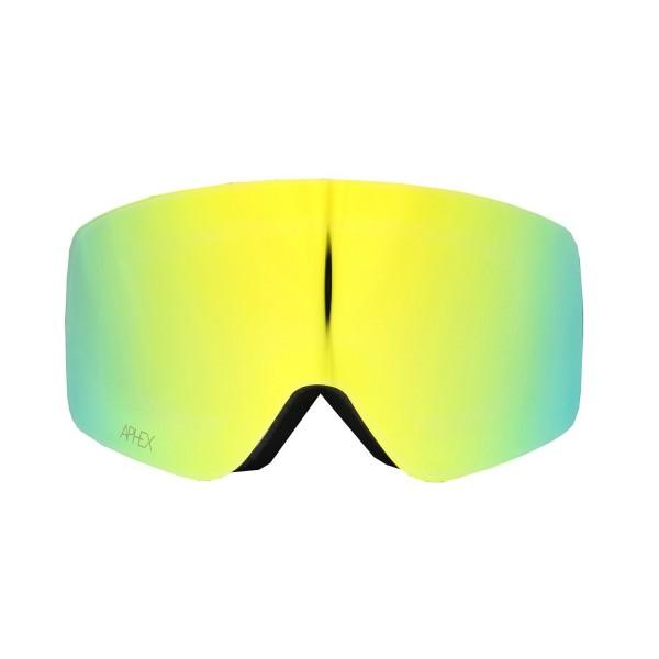 Aphex Oxia Black - Revo Gold & Spare Lens -Goggles - Oxia Black - Revo Gold & Spare Lens - Aphex