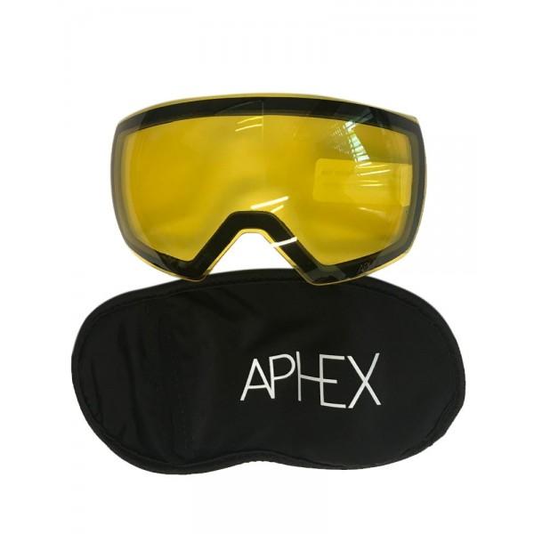 Aphex Explorer Matte White - Revo Blue & Spare Lens