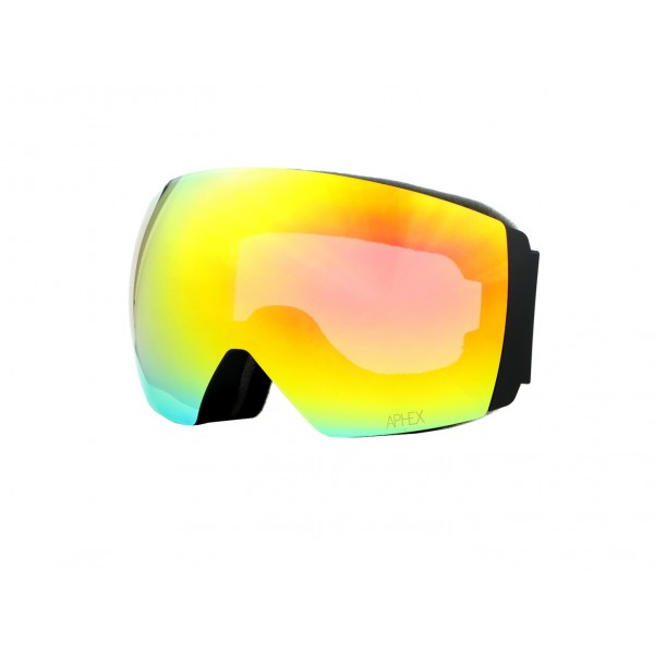 Aphex Styx Matte Black - Revo Red & Spare Lens -Goggles - Styx Matte Black - Revo Red & Spare Lens - Aphex