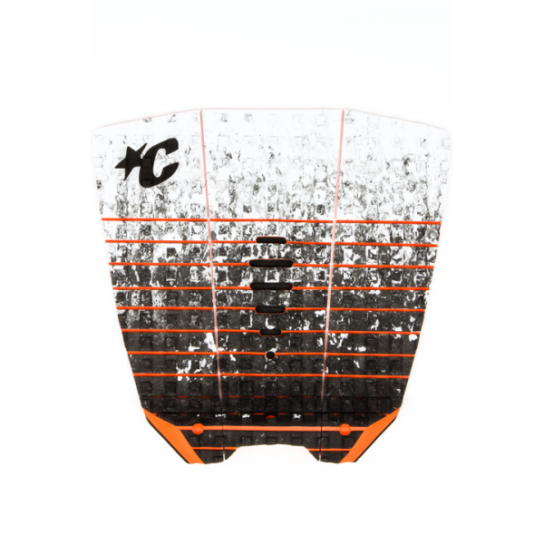 Creatures of Leisure Mick Eugene Fanning Tail Pad White Fade Orange -Traction Pads - Mick Eugene Fanning Tail Pad Lt Grey Orange - Creatures of Leisure