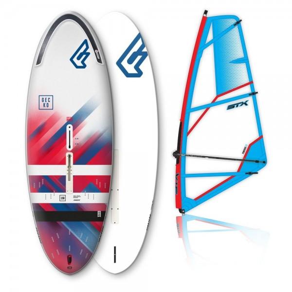 Fanatic Gecko HRS Softdeck + STX Power Kid Rig -Windsurfsets - Gecko HRS Softdeck + STX Power Kid Rig - Fanatic