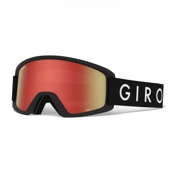 Giro Semi Black + Amber Scarlet & Yellow Lens