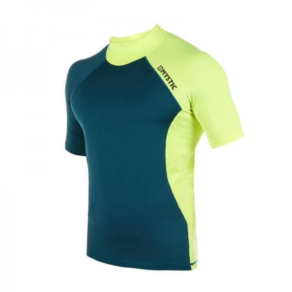 Mystic Crossfire Shortsleeve Rash Vest Lime -Thermo & Lycra - Crossfire Shortsleeve Rash Vest Lime - Mystic