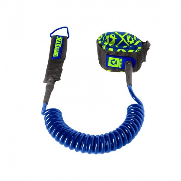 Mystic Sup Leash Coiled Blue -Leashes - Sup Leash Coiled Blue - Mystic