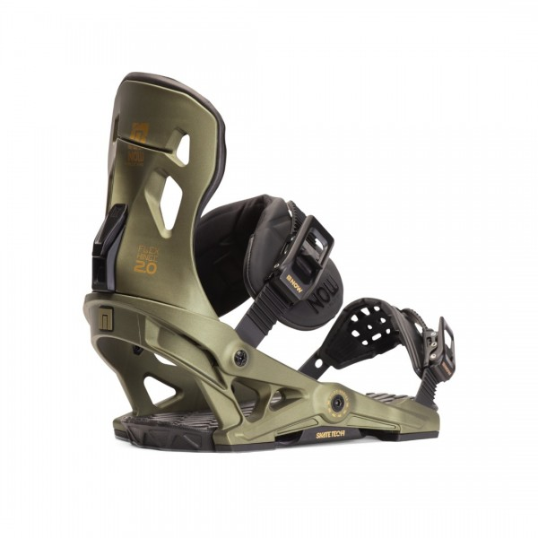 NOW Pilot Green 2020 -Snowboardbindingen - Pilot Green Snowboard Binding 2020 - NOW Bindings