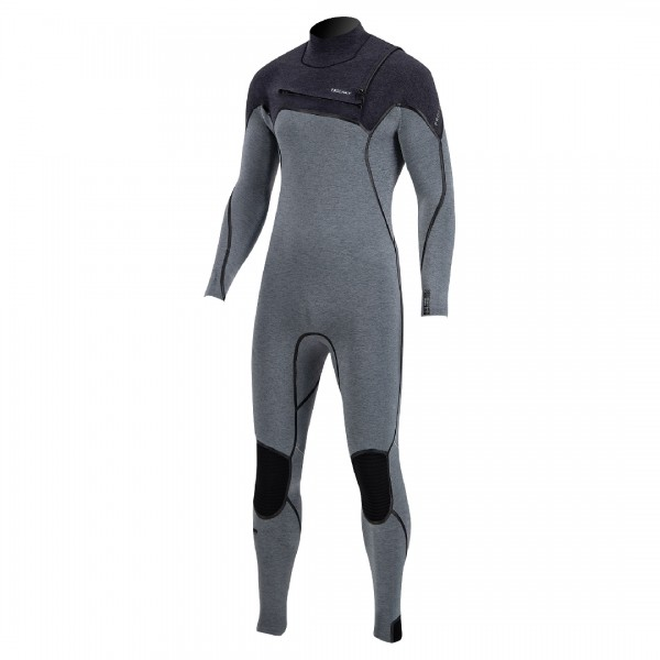 Prolimit Mercury 6/4 Frontzip Grey/black -Steamer Mannen - Mercury 6/4 Frontzip - Prolimit