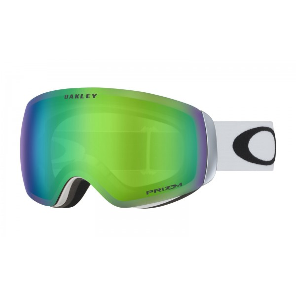 Oakley Flight Deck XM Matte White - Prizm Snow Jade Iridium Lens -Goggles