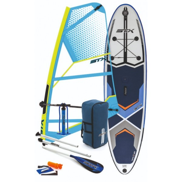 STX Inflatable SUP Windsurf Option + STX Mini Kid Rig -Windsurfsets - Inflatable SUP Windsurf Option + STX Mini Kid Rig - STX