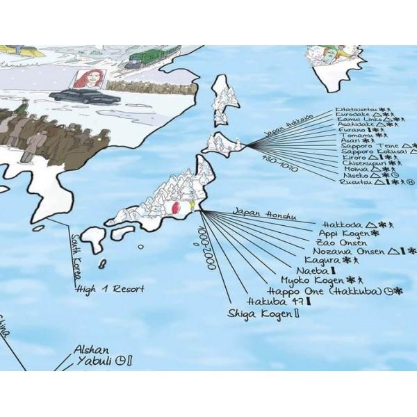 Snowtrip Map -Cadeautip - Surftrip Map - Snowtrip Map