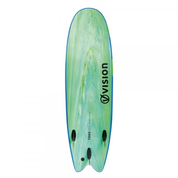 "Vision Take Off Surfboards 6'6"" Swallow Tail"