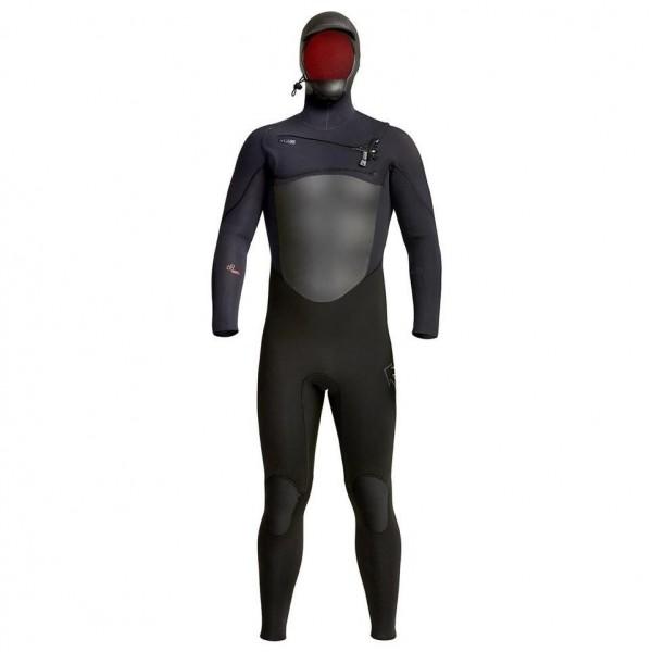 Xcel Infiniti X2 5/4 Hooded Men Full Black -Wetsuits Aanbiedingen - Infiniti X2 5/4 Hooded Men Full Black - Xcel