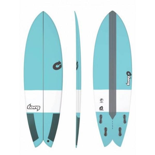 Torq Surfboard Quad Fish TEC Blue