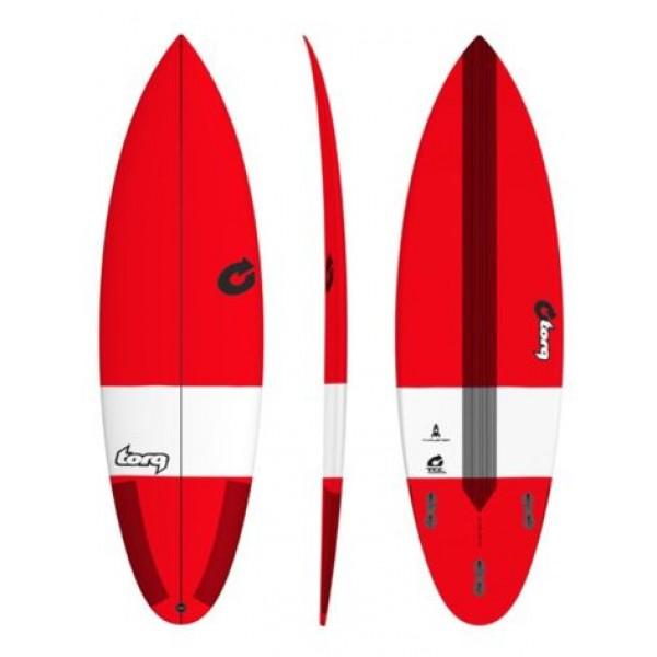 Torq Surfboard Thruster TEC Red