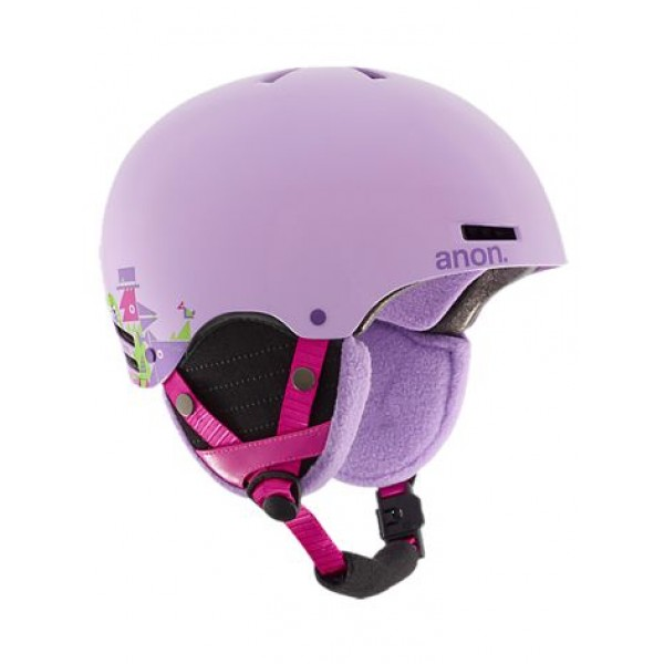 Anon Rime Wildlife Purple Wms -Helmen & Protectie - Rime Wildlife Purple Helm Girls - Anon