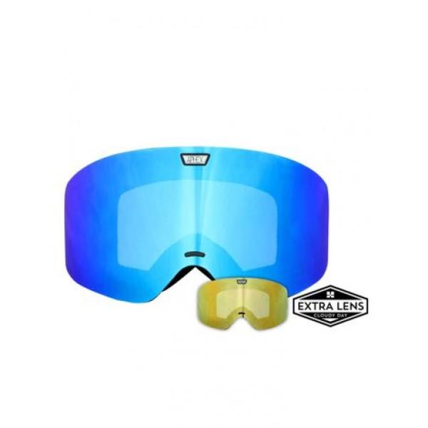 Aphex Alpha Matte Black - Revo Blue & Spare Lens -Goggles - Alpha Black-Revo Blue+Spare Lens - Aphex