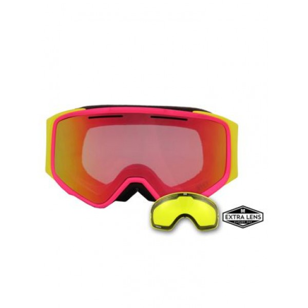 Aphex Vortex Pink/Yellow - Revo Red & Spare Lens -Goggles