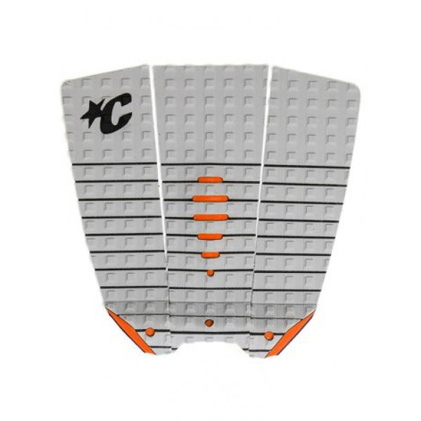 Creatures of Leisure Mick Eugene Fanning Tail Pad Lt Grey Orange -Traction Pads - Mick Eugene Fanning Tail Pad Lt Grey Orange - Creatures of Leisure