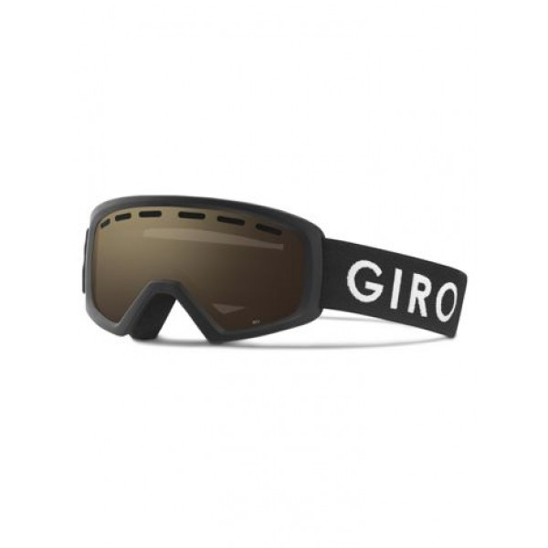Giro Rev Black Zoom + Amber Rose Lens Jr -Goggles - Rev Black Zoom - Giro