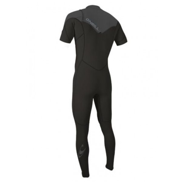 O'Neill Hammer 2mm Chest Zip Short Sleeve Full Black/Graphite