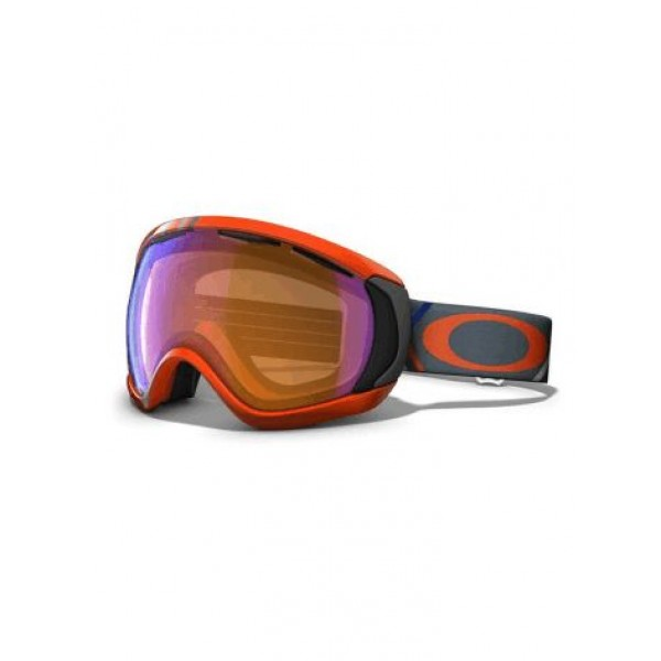 Oakley Canopy Freedom Plaid Neon Fire - Persimmon Lens -Goggles