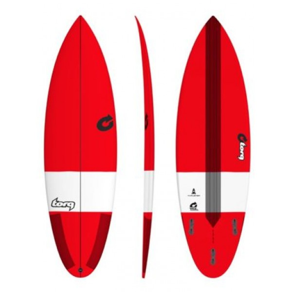 Torq Surfboard Thruster TEC Red -Surfboards - Thruster TEC Red - Torq